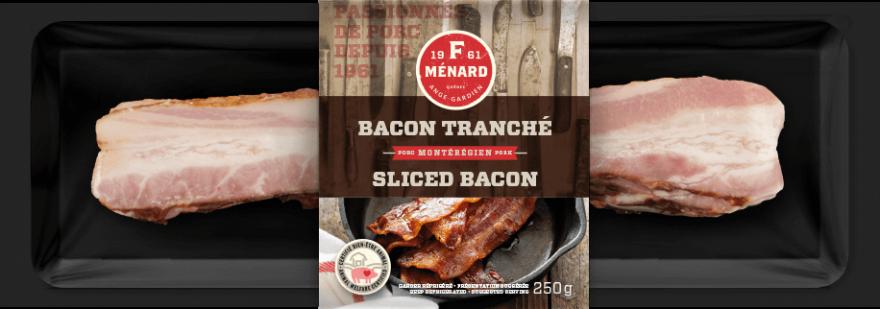 F. Ménard | Produits | Bacon tranché | 250g