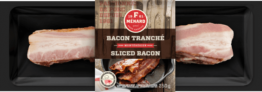 Bacon tranché 250g