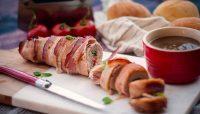 Filet de porc farci aux épinards, chorizo, porc effiloché et cheddar | Recette | F. Ménard