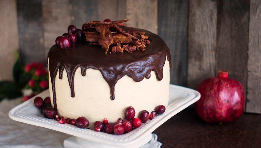 Gâteau au chocolat, érable et bacon | Recette | F. Ménard