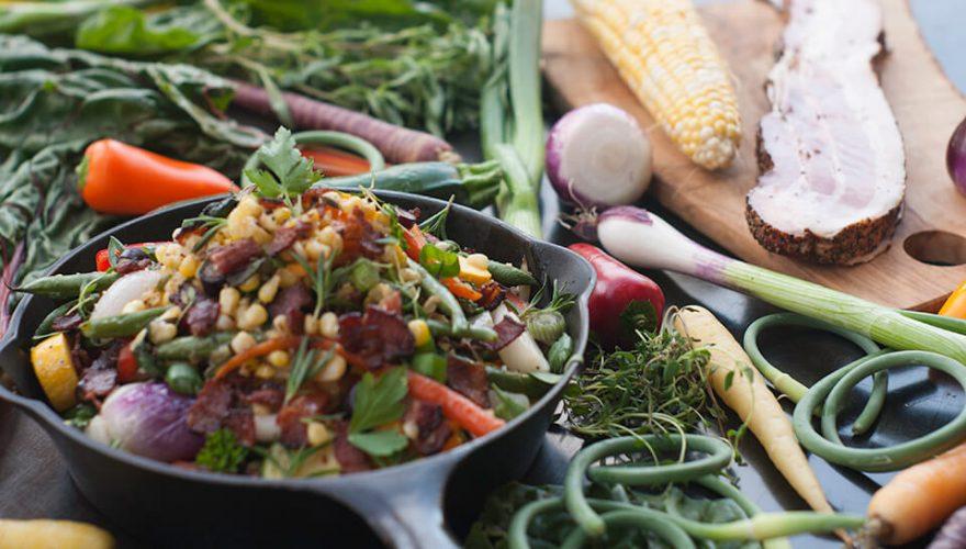 Poêlée de légumes d'été au bacon | Recette | F. Ménard