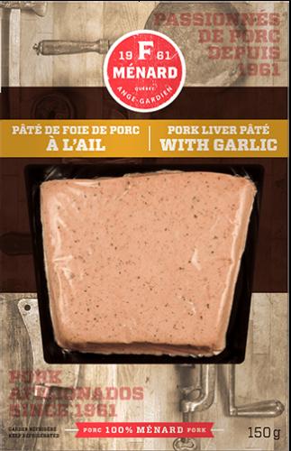 Pâté de foie de porc à l'ail | 150 g | Produits | F. Ménard