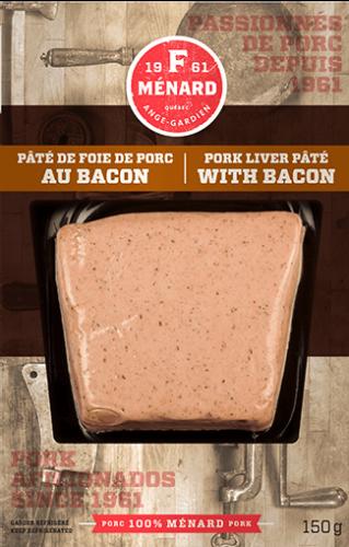 Pâté de foie de porc au bacon | 150 g | Produits | F. Ménard