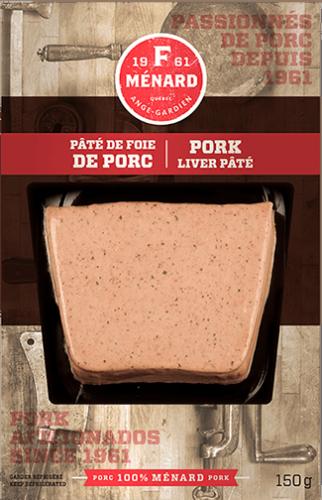 Pâté de foie de porc | 150 g | Produits | F. Ménard