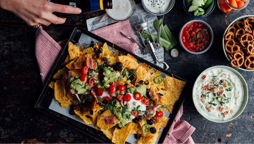 Nachos au bacon, légumes et fromage | Recette | F. Ménard